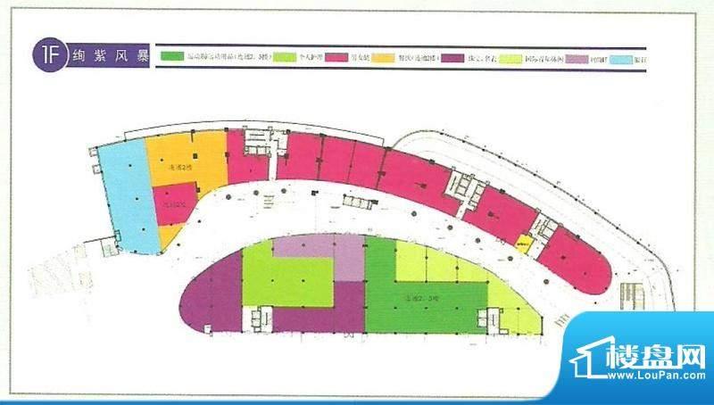 卓悦广场平面图1 面积:0.00m平米