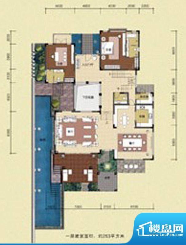 华发生态庄园A户型2面积:163.00m平米