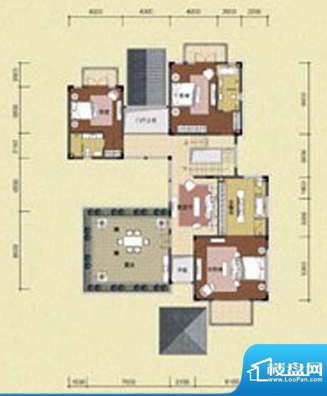 华发生态庄园A户型3面积:172.00m平米
