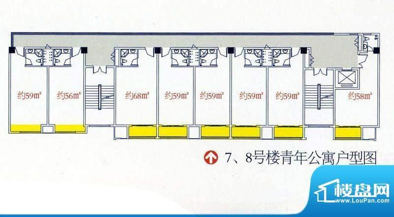新港名仕花园7、8号面积:59.00平米