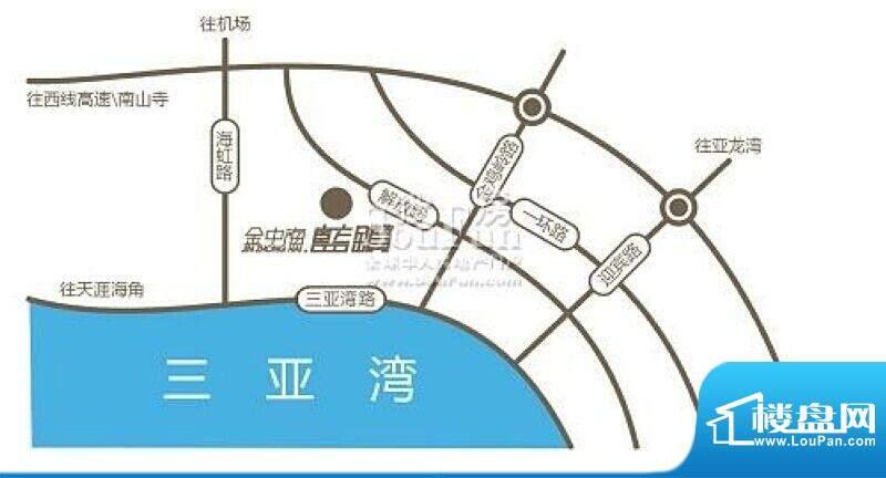 金中海蓝钻交通图