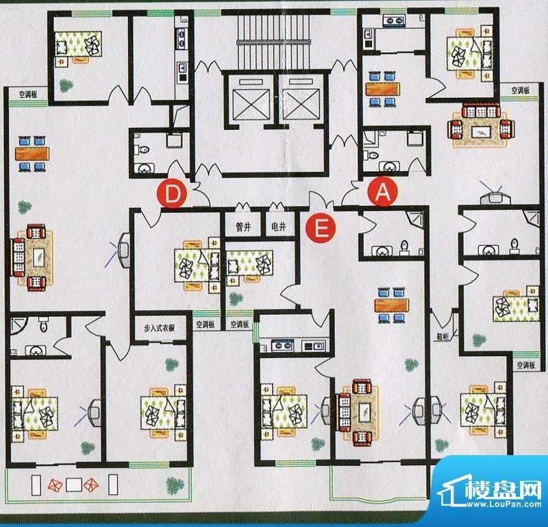 北海庄园19号楼标准面积:205.50m平米