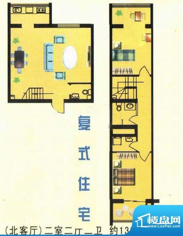 万豪公寓(北客厅)面积:132.29m平米