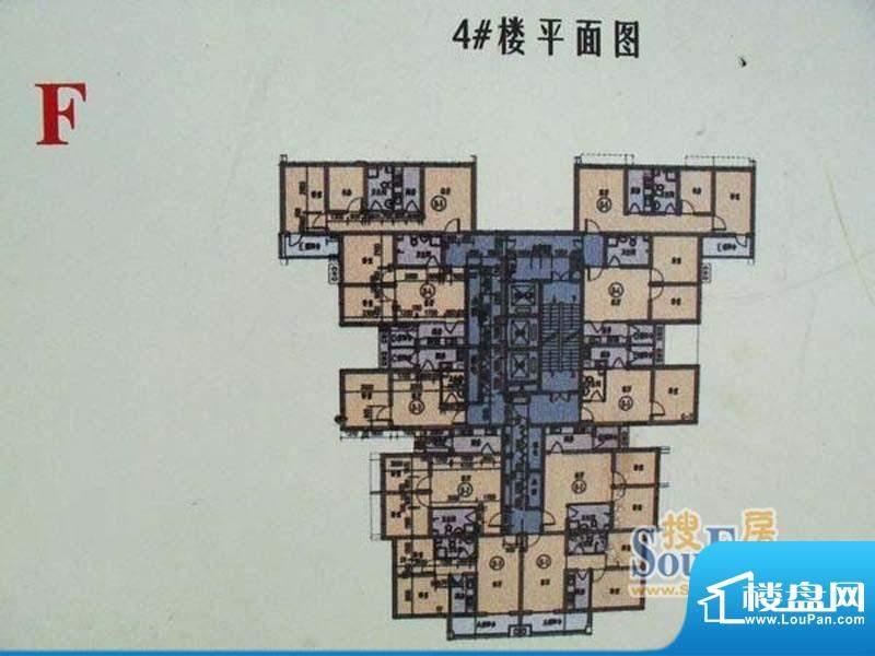 香兰雅居4楼标准层平面积:121.20m平米