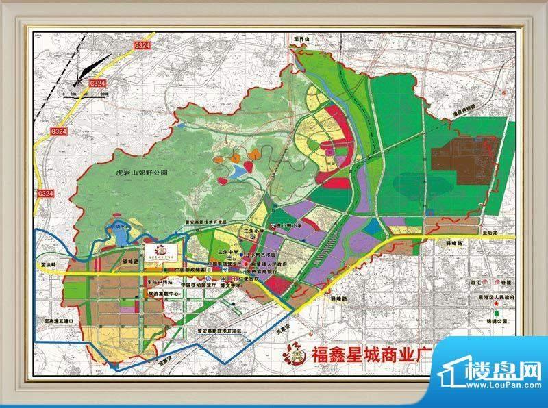 福鑫星城商业广场交通图