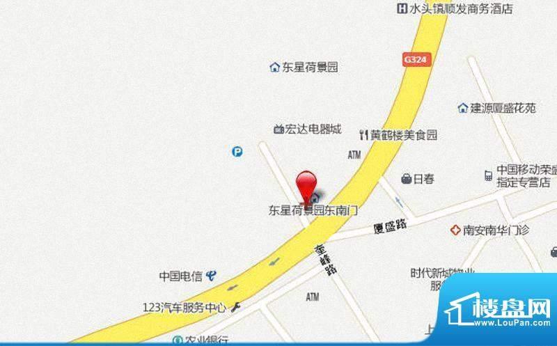 东星荷景园交通图