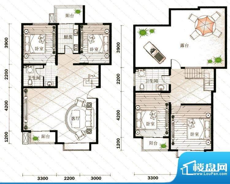 仁宝新居4号楼K户型面积:179.92平米
