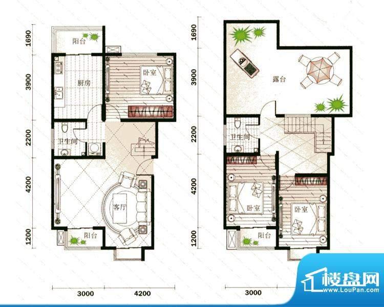 仁宝新居5号楼M户型面积:154.01平米