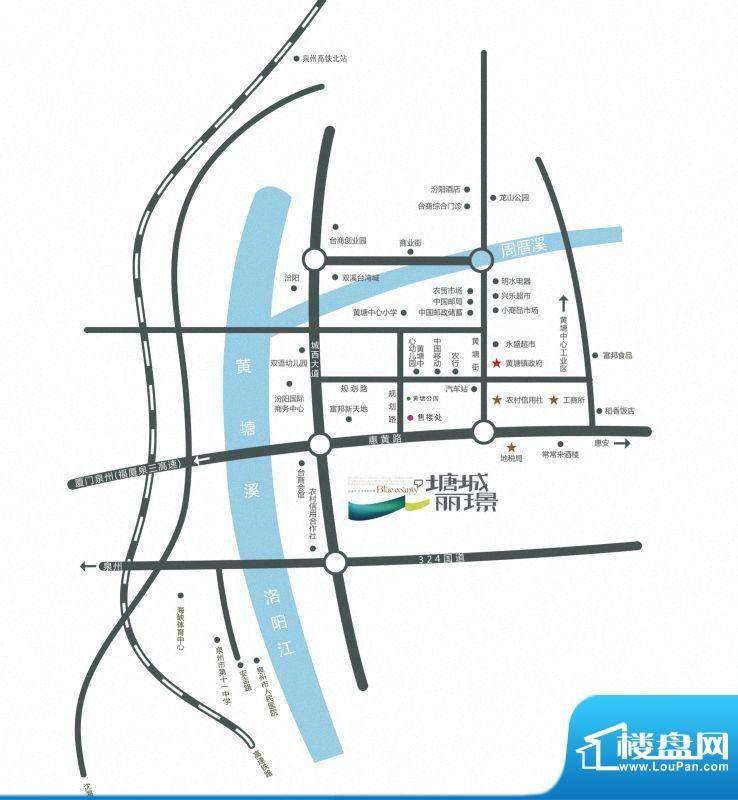 塘城丽璟交通图