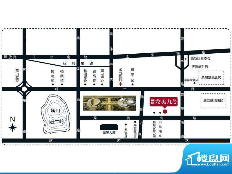 海信·龙奥九号交通图