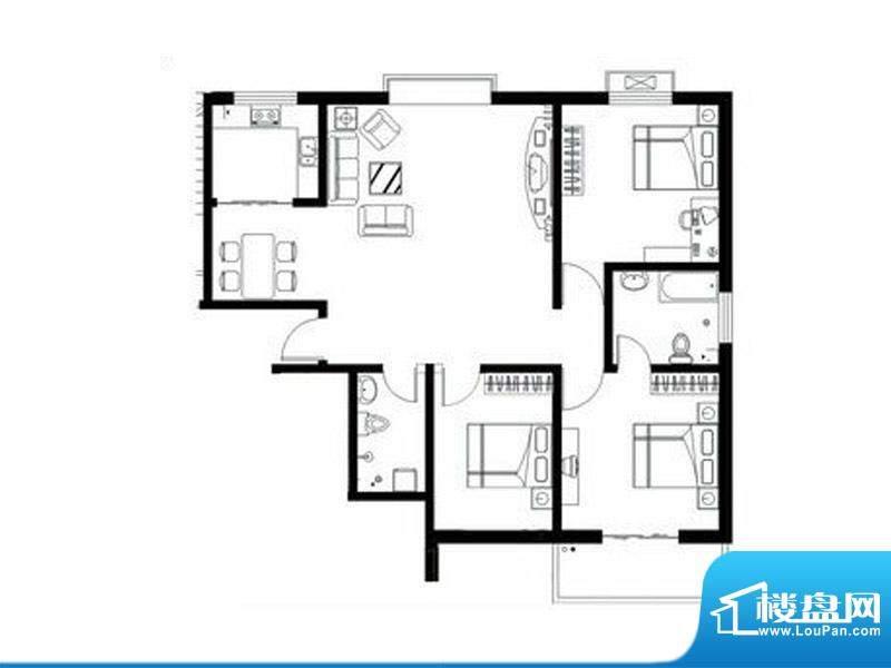 天兆家园1号楼1单元面积:137.39m平米