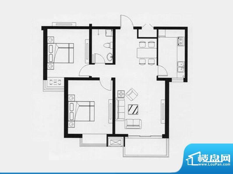 天兆家园2号楼1单元面积:97.31m平米