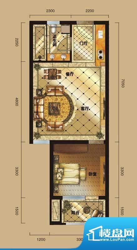 中海紫御公馆盛装馨面积:60.00平米