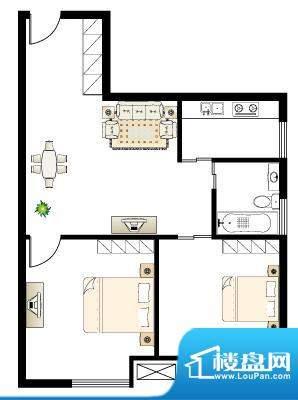 慢城宁海U户型 2室2面积:0.00平米