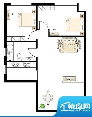 慢城宁海Y户型 2室2面积:0.00平米
