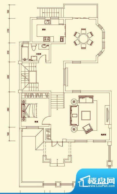 盛龙国际双拼别墅SD面积:343.72平米