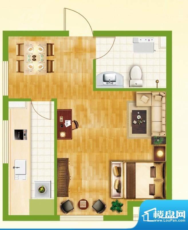 银都新城市广场公寓面积:49.95平米