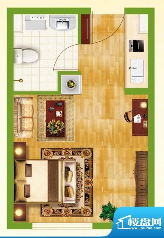 银都新城市广场公寓面积:37.28平米