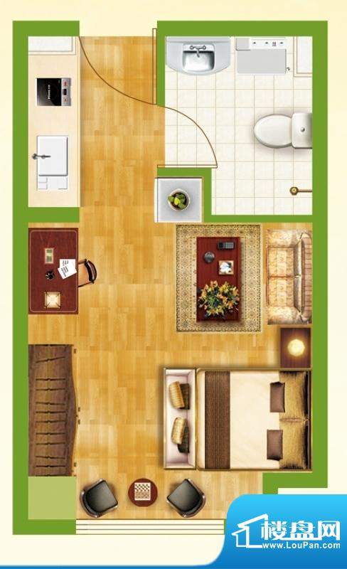 银都新城市广场公寓面积:33.29平米