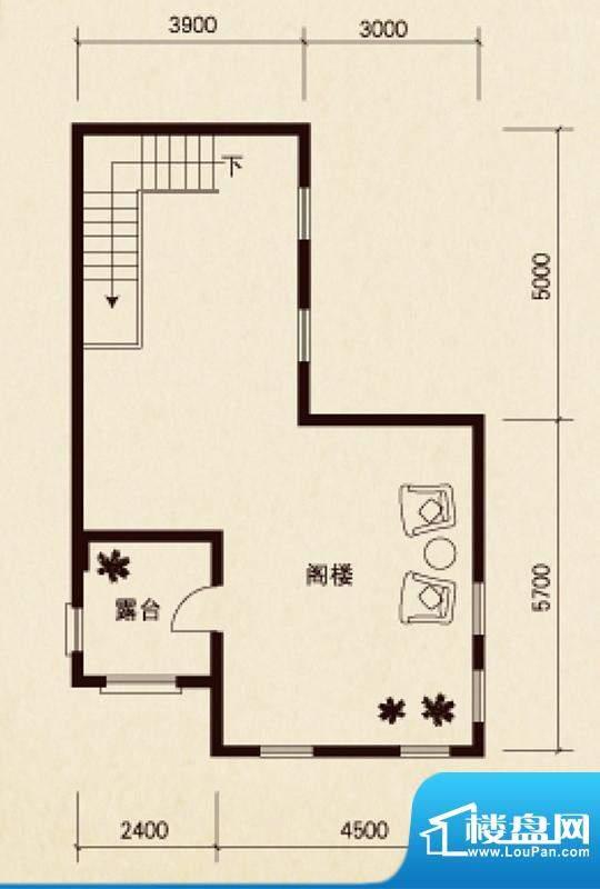 原石滩a户型四层 7室面积:510.21平米