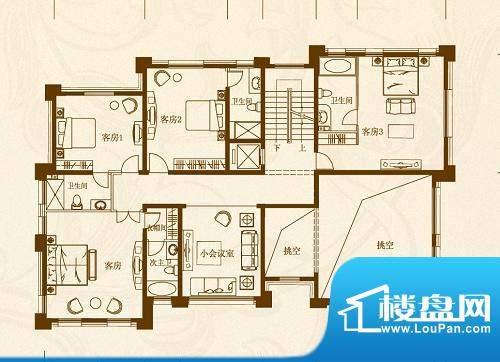 马山寨海景豪庭别墅面积:222.00平米