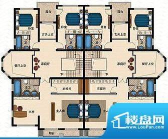桃源一品F栋二层 4室面积:299.41平米