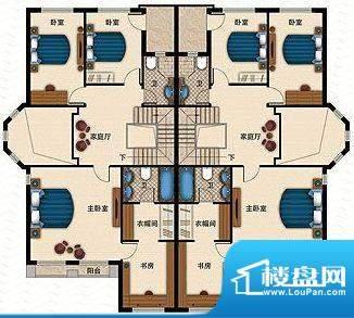 桃源一品E栋二层 4室面积:245.69平米