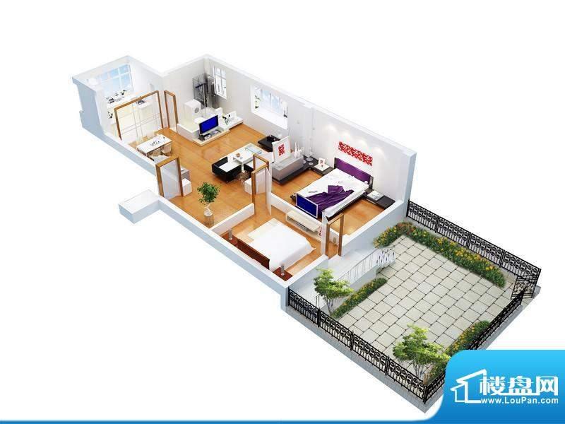 家和美景天城57、58面积:87.76平米