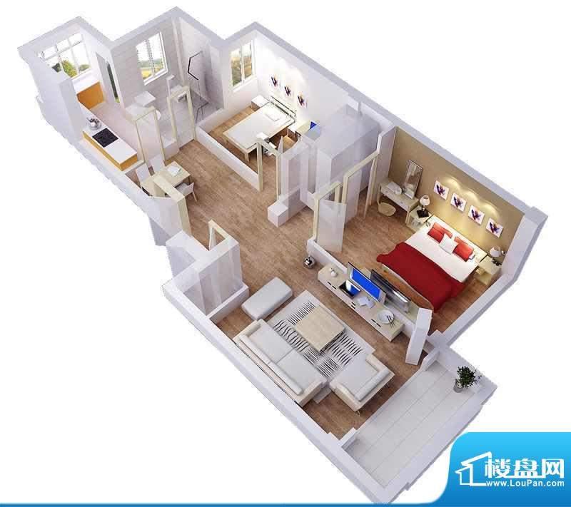 家和美景天城57、58面积:87.36平米