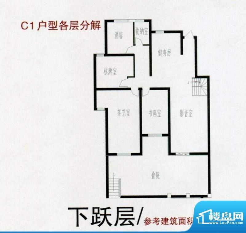 紫御美墅C1户型 下跃面积:163.00m平米