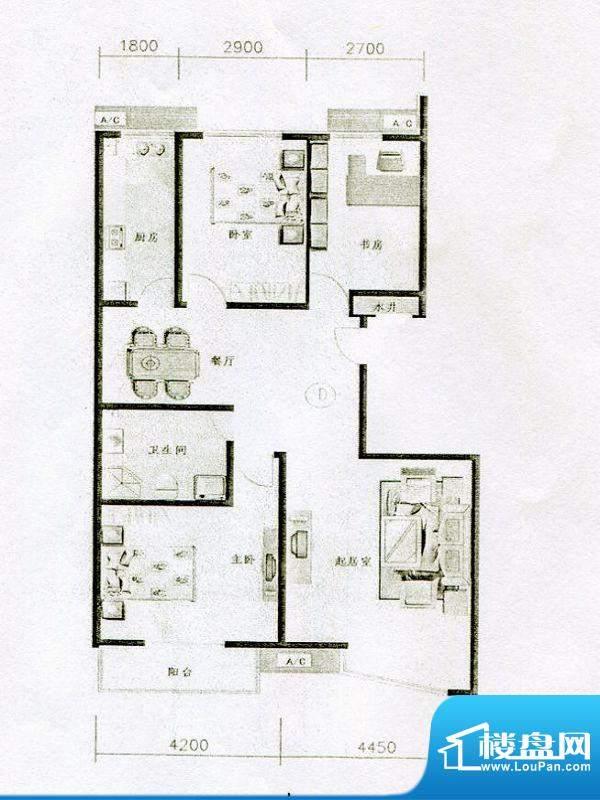 仁和宜佳公寓高层D户面积:148.00m平米