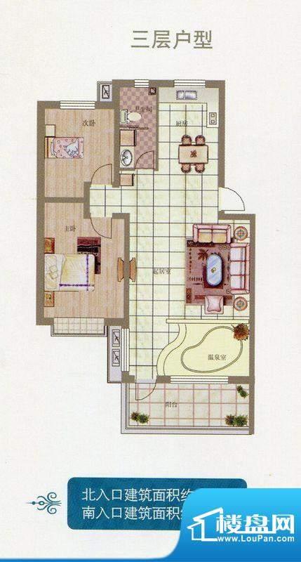 悦榕泉三层户型 102面积:0.00m平米