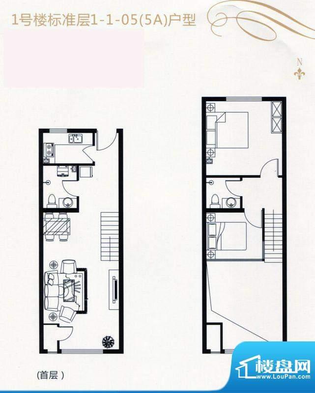 裕东公寓LOFT1-1-05面积:57.00m平米
