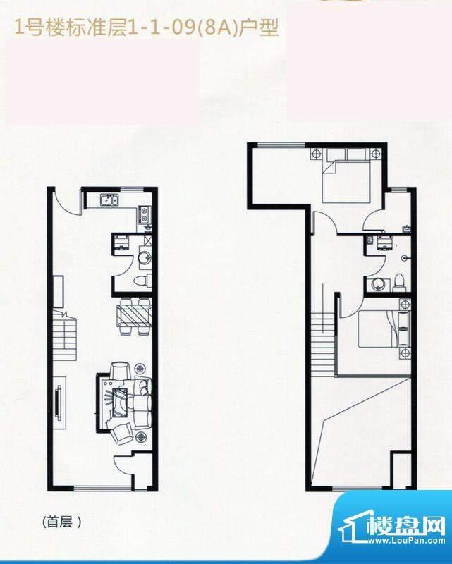 裕东公寓LOFT1-1-09面积:56.00m平米