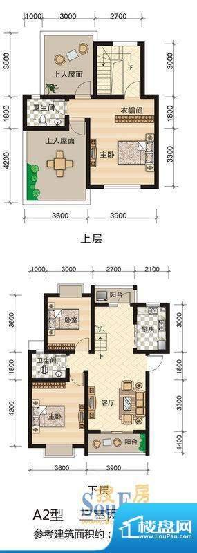 西科苑A2 3室2厅2卫面积:120.27平米