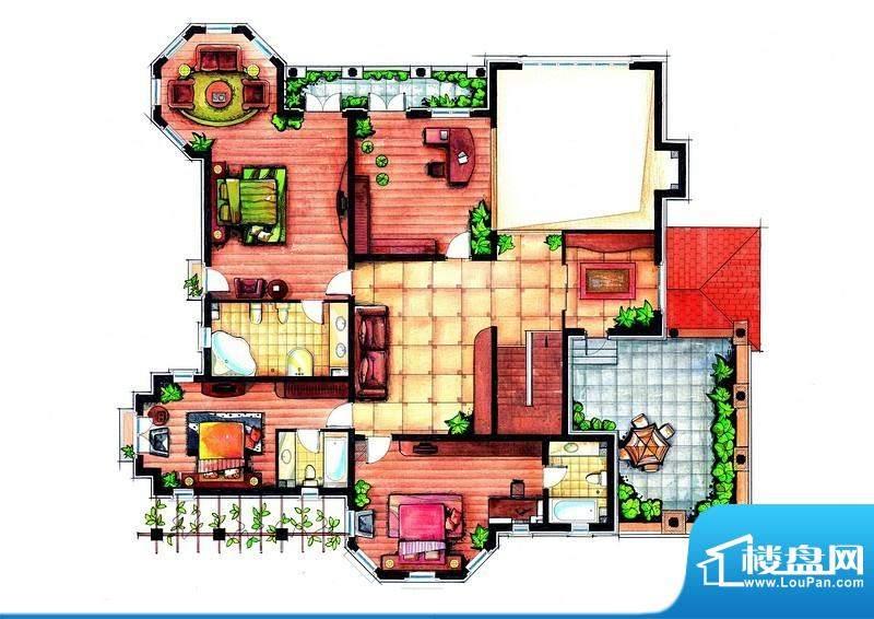 麦迪逊花园二期独栋面积:604.00m平米