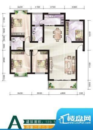 未城滨江佳苑A 4室2面积:139.50平米