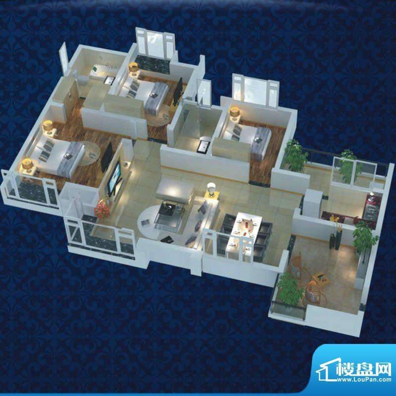 博雅海润广场 8栋1号面积:93.13平米