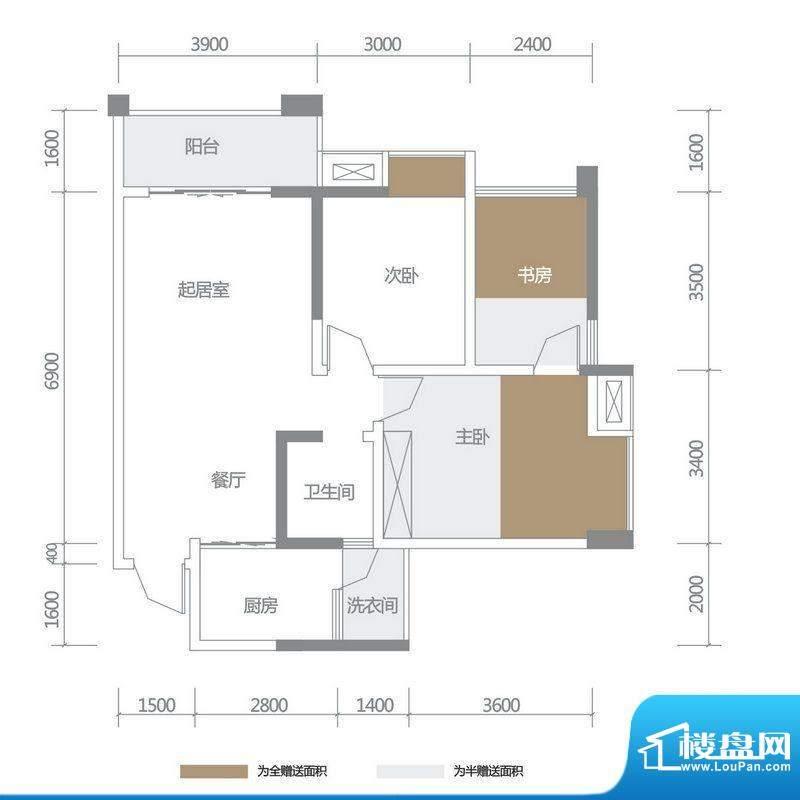 博雅海润广场5栋1、面积:95.44平米