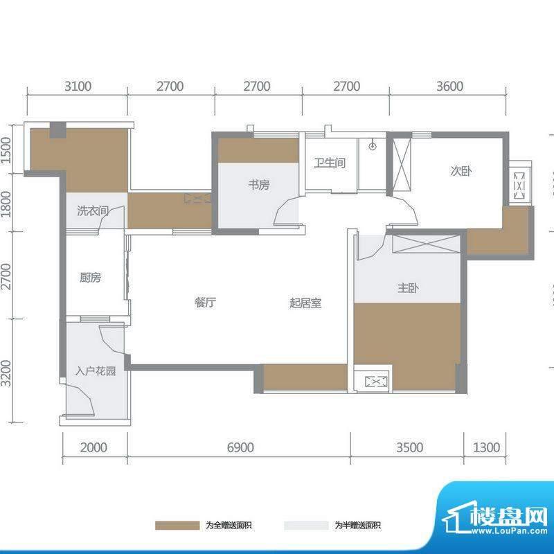 博雅海润广场 5栋3号面积:114.77平米