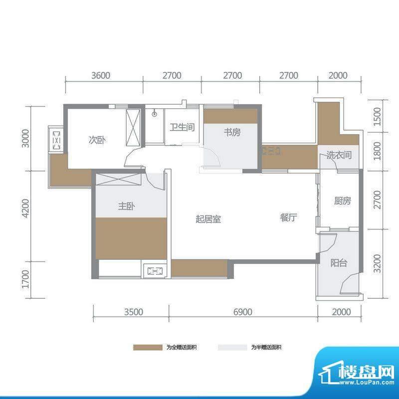 博雅海润广场 5栋6号面积:111.97平米