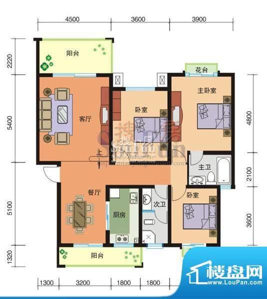 东辰阳光清华A区9#-面积:137.31平米