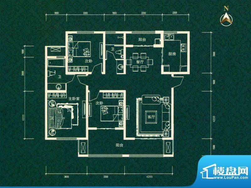 建业高尔夫花园三期面积:149.00m平米
