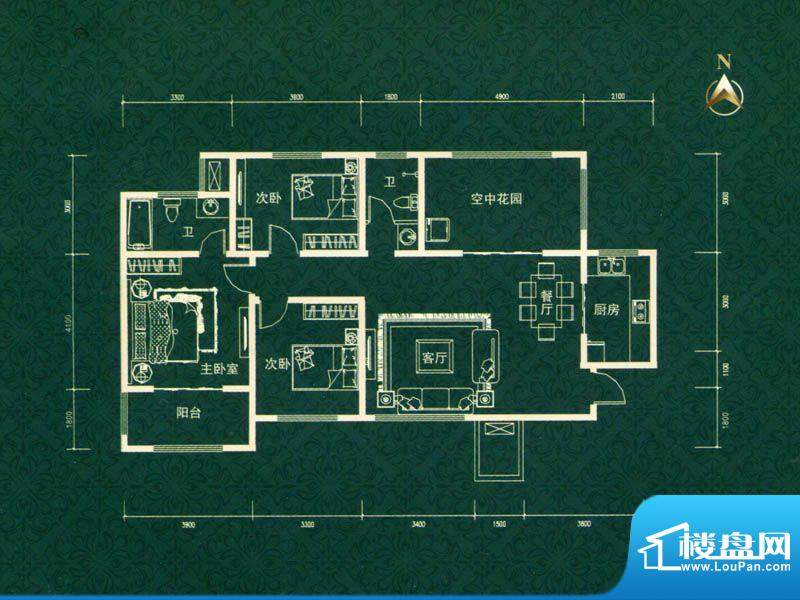 建业高尔夫花园三期面积:146.00m平米