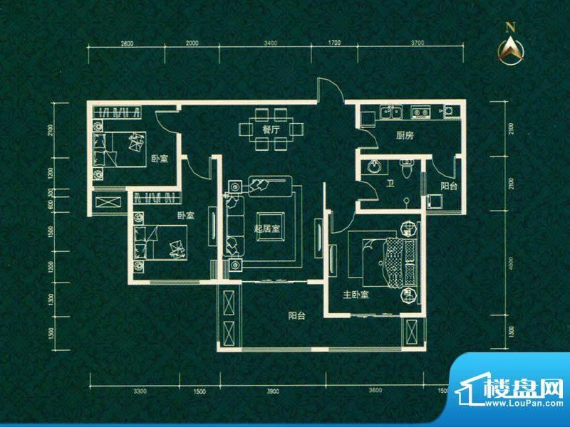 建业高尔夫花园三期面积:127.00m平米