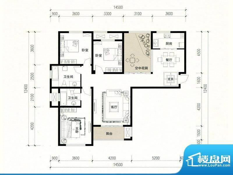 建业高尔夫花园B2户面积:152.00m平米