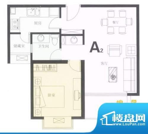 鼎城2008A2户型图 1面积:63.78平米