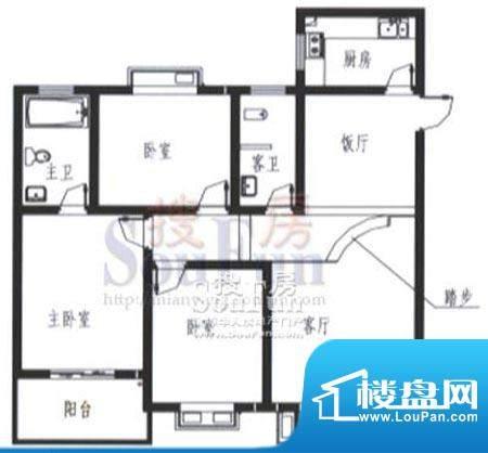 梓锦新城三期G1户型面积:115.00平米