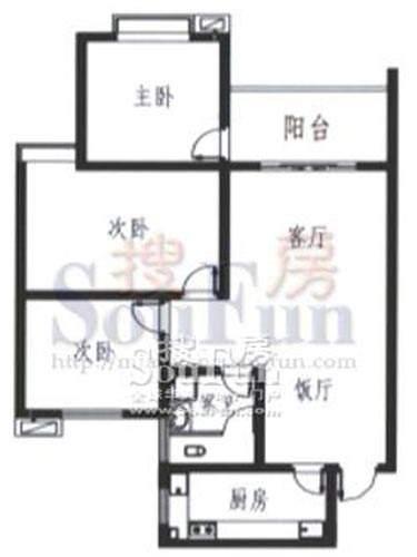 梓锦新城三期H户型图面积:111.00平米