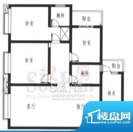 梓锦新城三期户型图面积:132.00平米